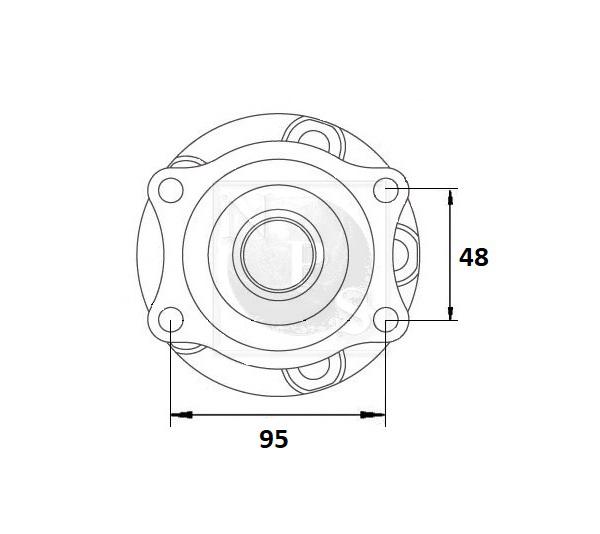M471I46: Roulement de roue arrière